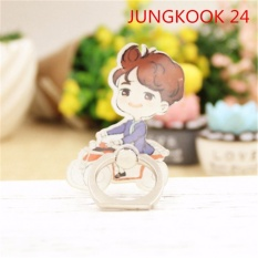 BTS Bangtan Boys JUNGKOOK Case 360 Derajat Rotasi Phone Ring Finger Buckle Stand Holder Ponsel Phone Stand Aksesoris Cincin ZHK-Intl