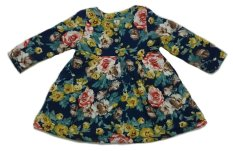 Obral Buguncu Dress Coat Navy Flower Anak Perempuan Murah