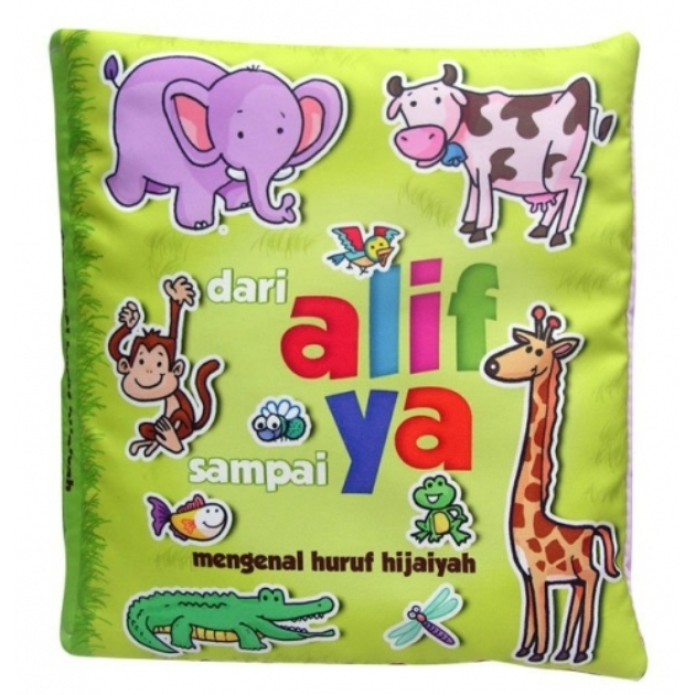 Buku Kainku / Soft Book / Cloth Book / Washable Book - Alif Sampai Ya
