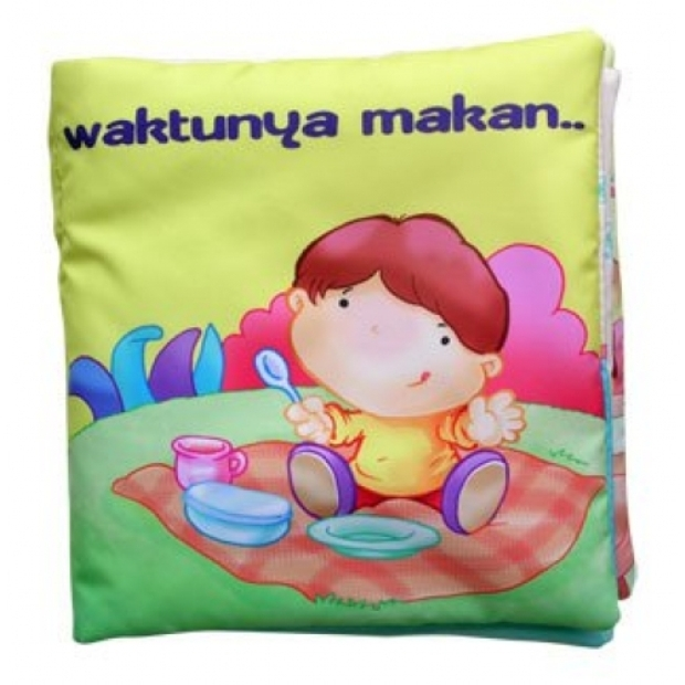 Buku Kainku / Soft Book / Cloth Book / Washable Book - Waktunya Makan