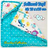 Promo Toko Bumbee Collections Selimut Topi Motif Animal Grow Polka Blue