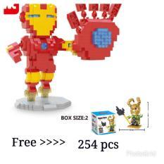 ( Buy 1 Get 1 Free ) Bricks Wise Hawk 2241 Superhero Free Hsanhe 8110 Superhero