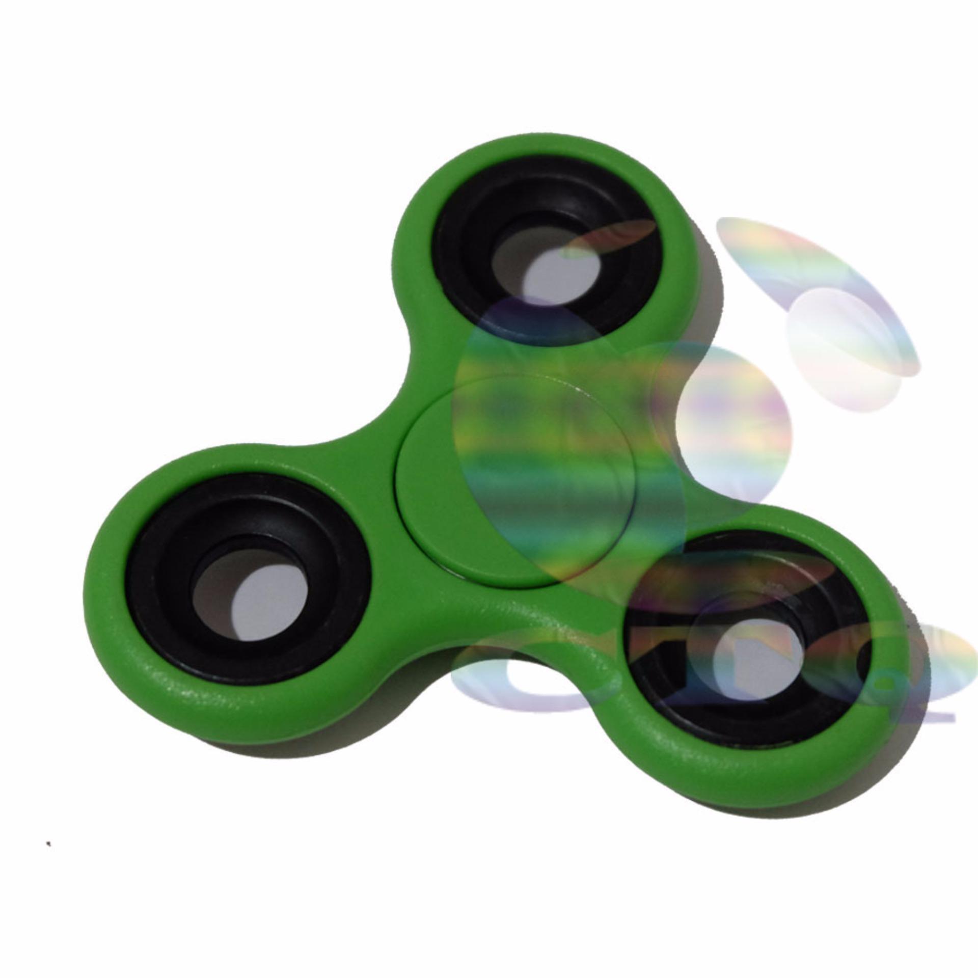 Cantiq Fidget Spinner Ceramic Mainan Tri-Spinner Ball Bearing EDC Sensory Mainan Penghilang Kebiasaan Buruk