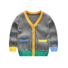 Cardigan Colors Grey - Cardigan Anak Laki-Laki Perempuan Import By Blessbabykids.