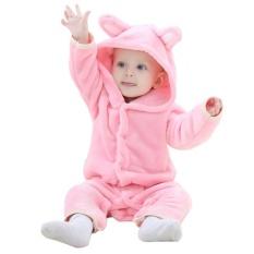 Carter Coral Fleece Musim Semi Musim Gugur Hewan Jumpsuit Bayi Gadis Rompers Bayi Boy Pakaian Baju Monyet-Internasional