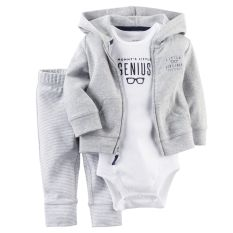 Beli Carters Anak Bayi Baru Lahir Baju Kardigan Celana Set Pakaian Abu Abu Nyicil