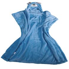 Ulasan Cartoon Flannel Kid S Hooded Bath Towel Blue Dog