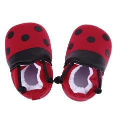 Ulasan Lengkap Kartun Merah Ladybug Pola Sepatu Bayi Elastis Band Soft Pertama Walker Sepatu Intl