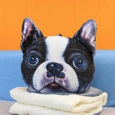 Kucing Anjing Bentuk Sofa Cushion Bekas Mobil Kado Rumah Kursi Bantal Kepala Take A Good Rest Bulldog-Intl