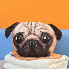 Kucing Anjing Bentuk Sofa Cushion Bekas Mobil Kado Rumah Kursi Bantal Kepala Beristirahat PUG-Intl