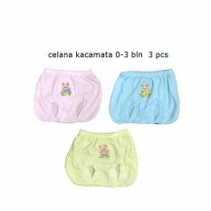 Celana Kacamata Bayi Warna isi 3 pcs umur 0-6 bulan/celana kodok/celana santai/celana rumah/anak laki-laki/anak perempuan