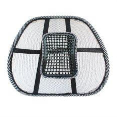 Chair Massage Back Lumbar Support Mesh Ventilate Cushion Pad CarOffice Seat black