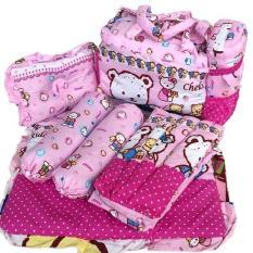 Chekiddo Tas Gendongan Bantal Guling Alas Tidur Bayi Set 4 in 1 - Pink