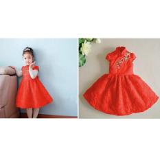 Cheongsam/Dress Imlek - Red Carter Love