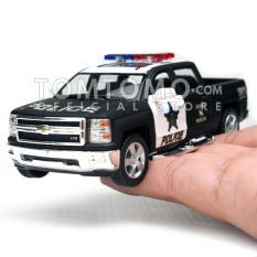 Harga Chevrolet Silverado 14 Police Diecast Miniatur Mobil Mobilan Pickup Bak Polisi Mainan Anak Cowok Kinsmart Satu Set