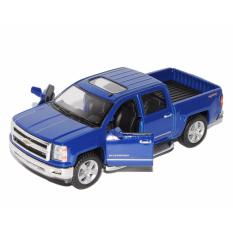 Spesifikasi Chevrolet Silverado Blue Diecast Miniatur Mobil Mobilan Truk Mainan Anak Cowok Kinsmart Yang Bagus