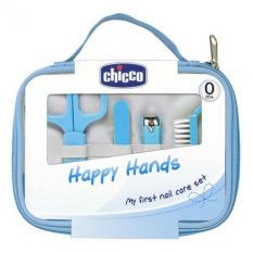 CHICCO Italy Happy Hands Manicure Set Gunting Perawatan Kuku Bayi - Biru