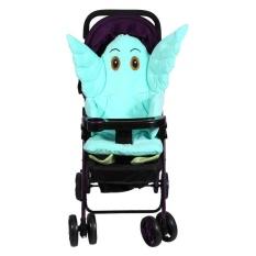 Anak Mobil Keselamatan Seat Cotton Pad Baby Stroller Cushion Chair Seat Aksesori (Hijau)-Intl