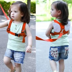 Review Toko Safety Harness Leashes Strap Bag Anti Lost Angle Wings Keeper Toddler Walking Wings For Baby And Kids Orange