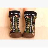 Toko Anak Merajut Boots Lembut Bawah Non Slip Lantai Bayi Boots Balita Gadis Boy Newborn Sepatu Kaus Kaki Dengan Karet Sol Anak Anak Ws93291 Army Hijau Intl Terdekat