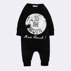 Beli Anak Bayi Keren Baju Terusan Lengan Panjang Melompat Suit Hitam Murah Tiongkok