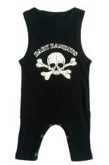 Harga Anak Sleeveless Leotard Baby Skull Print Coverall Jump Suit Hitam Intl Oem