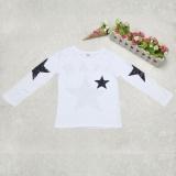 Harga Anak Pakaian Lengan Panjang Berujung Lima Printing T Shirt Putih Di Tiongkok