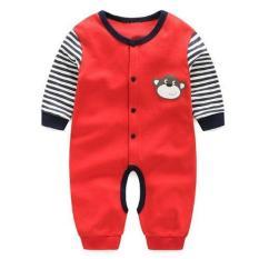 Anak-anak Newborn Bayi Pakaian Bayi Musim Semi Musim Panas Musim Gugur Pakaian Bayi Monyet Jumpsuit Merah Climbing Body Suits-Intl