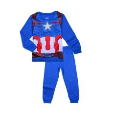 Review Pada Chloe S Clozette Piyama Anak Captain America Pj 27 Biru