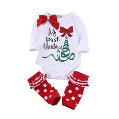 Natal Baby Girls Cotton Romper Bodysuit Leg Warmers Pakaian Pakaian Original