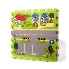 Jalan Kota Bayi Quiz Games Busa Merayap Bantalan Jigsaw Carpet Gamec-Internasional
