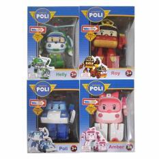 Toko Cl Kiddos Robocar Poli Roy Helly Dan Amber Mobil Robot Car Set Action Figure 4Pcs Online Jawa Timur