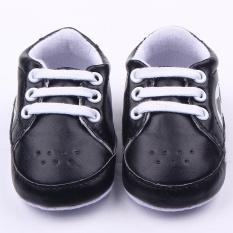Klasik Bayi Sepatu Sepak Bola Bayi Non-slip Balita Sepatu 0013-Hitam-Internasional
