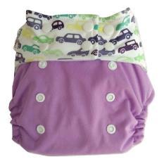 Clodistore Clodi Popok Kain Bayi Pem Pem Snap Ori Microfiber Cloth Diaper Purple Car Pempem Diskon
