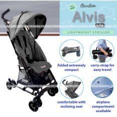 Cocolatte Baby Stroller Alvis Lite CL-KS85ML Lightweight Travelmate - Kereta Dorong Bayi - Abu2