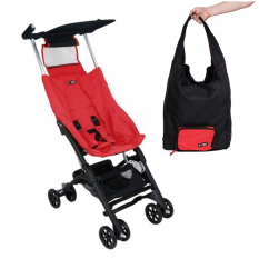 Cocolatte  Stroller CL-789 New Reclining Pockit With TOTE Bag - Kereta Dorong Bayi - Red