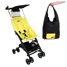 Cocolatte  Stroller CL-789 New Reclining Pockit With TOTE Bag - Kereta Dorong Bayi - Yellow Beige