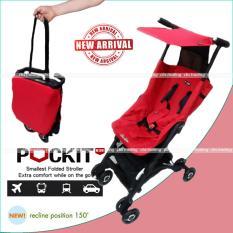 Harga Cocolatte Stroller Cl 838 New Reclining Pockit Kereta Dorong Bayi Merah Baru Murah