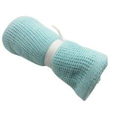 Cocotina Selimut Bayi Yang Lembut For Seluler Solidcolor Musa Keranjang Bayi Tempat Tidur Bayi Katil Bayi 100 Cm X 80 CM-Hijau Muda