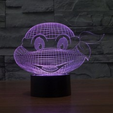 Colorful 3D Turtle Lamp Touch Switch Night Light LED Cahaya-Intl