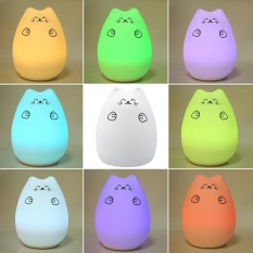 Jual Colorful Cat Silicone Led Night Light Rechargeable Touch Sensor Lamp Cute Anak Hadiah 1 Intl Di Tiongkok