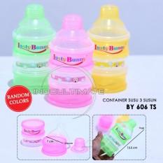 Container Susu Bayi 3 Susun Kecil / Tempat Susu / Wadah Susu / Takaran Susu BY-606-TS small - RANDOM