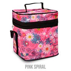 Model Cooler Bag Ztwo Soft Pink Spiral Tas Penyimpan Asip Atau Minuman Dingin Terbaru