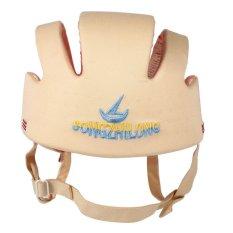 Kapas Bayi Balita Helm Keselamatan Baby Kids Head Protection Hat untuk Berjalan Merangkak (Beige)-Intl