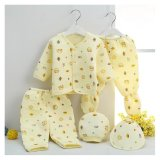 Promo Cotton Newborn Baby Boys Clothes Gift Suit Sets 5Pcs Yellow Intl Tiongkok