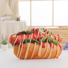 Simulasi Kreatif Pizza Hamburger Roti Kue Bantal Plush Toy Home Bantal Kantor Bantal Tidur Novelty Hadiah untuk Anak-anak dan Orang Dewasa Gaya: Salad Roti Sosis Tinggi: 50 CM-Intl