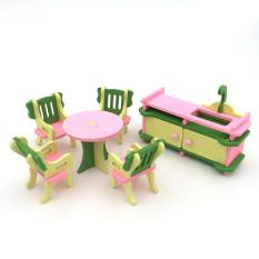 Creative Wooden Simulation Furniture 3D Assembly Puzzle Set Building Construction Blocks Jigsaw Puzzle Toys Style:Kitchen Lucky-G - intl