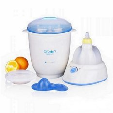 Review Crown Digital 6 In 1 Steaming Centre Sterilizer Botol Putih Kuning