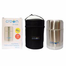 Harga Crown Easy Travel Food Soup Jar Thermos Termos Makanan 600Ml Crown Online