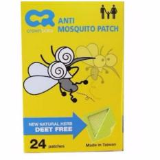 Crown Mosquito Patch / Sticker Anti Nyamuk Isi 24 Pcs By Bng Shop.